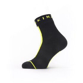 Sealskinz Waterproof All Weather Ankle Socks with Hydrostop black/neon yellow